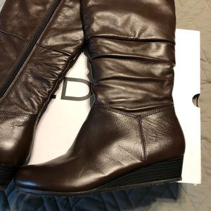 Aldo tall brown slouch boots size 8 1/2